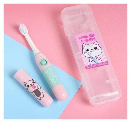 Электрическая зубная щетка «Начни день с улыбки», Lp-001, 19,2 х 5,5 см  Like me