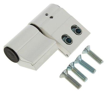 Петля для алюминиевой двери, до 120 кг, двухсекционная, белая  NNB