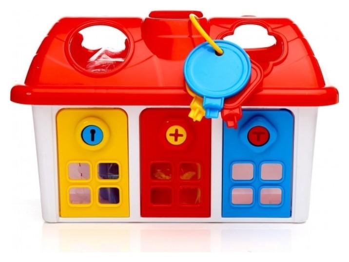 Сортер Счастливый домик c дверцами на ключике  Dolu