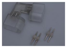 Коннектор для неона 12*24 мм, 2W, L - внутренний угол, с иглой