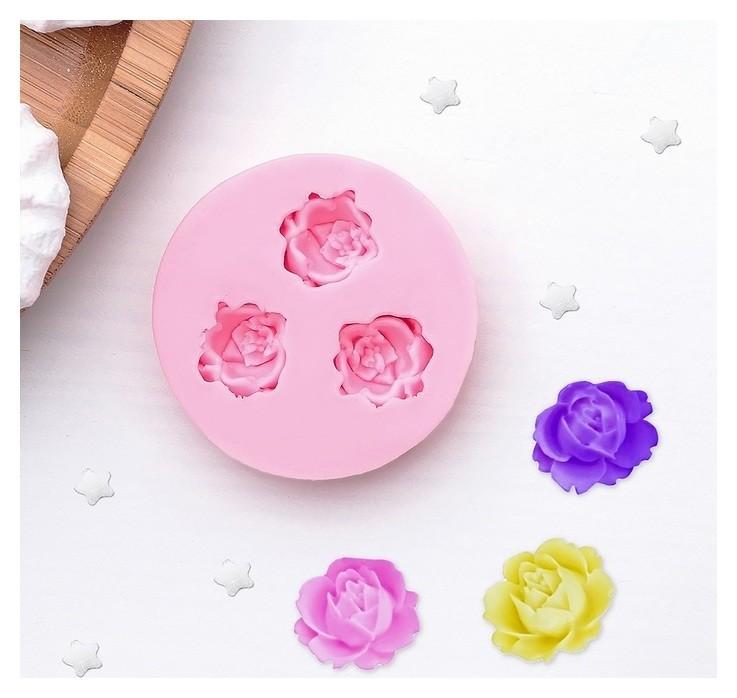 Молд силиконовый «Три малых розы», 5 см  NNB
