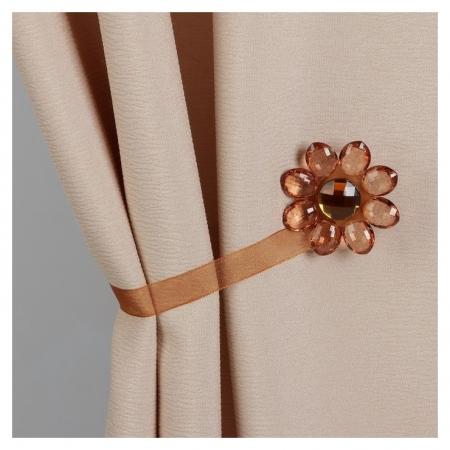 Подхват для штор «Цветок», 6 × 6 см, цвет коричневый  Арт узор