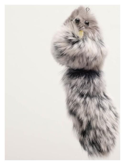 Мышь из натурального меха кролика, 6 см  NNB