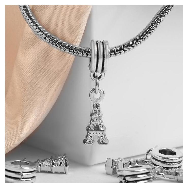 """Подвеска """"Париж"""", цвет серебро  Queen Fair"""