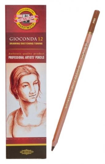 Сепия в карандаше 4.2 мм Koh-i-noor Gioconda 8803, коричневая, светлая, лаковый корпус, 175 мм  Koh-i-noor