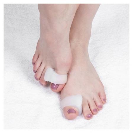 Корректоры для больших пальцев, силиконовые, пара, цвет белый  Onlitop