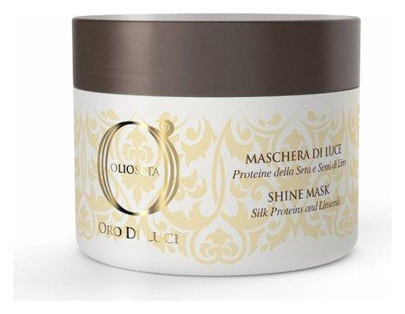 Маска-блеск с протеинами шёлка и семенем льна Barex Italiana Olioseta Oro Di Luce