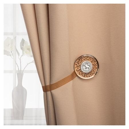 Подхват для штор «Букет», D = 6 см, цвет кофейный  Арт узор