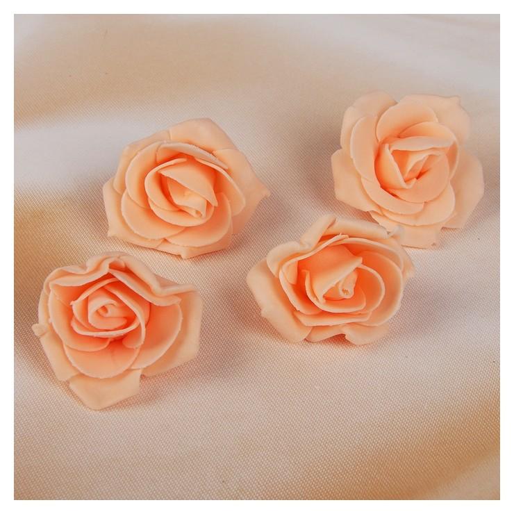Набор цветов для декора из фоамирана, D=5 см, 4 шт, персиковый  NNB