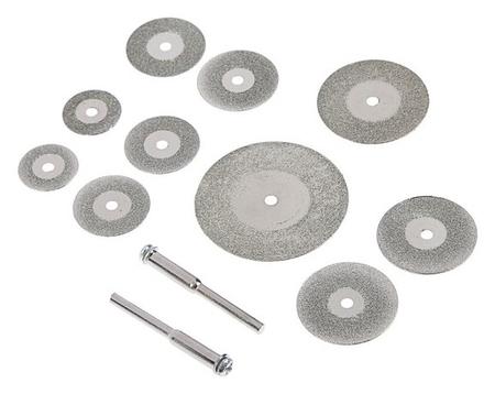 Круги отрезные мини Fit, с алмазным напылением, 12 шт.  FIT