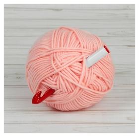 Крючок для вязания, D = 15 мм, 15 см, цвет белый/красный
