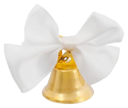 Колокольчик выпускной с белой бабочкой  NNB