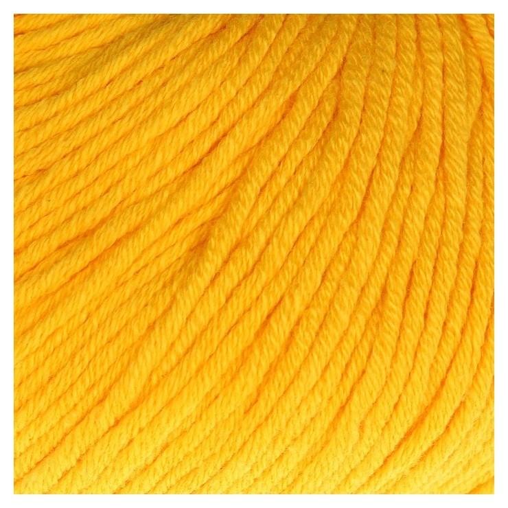 "Пряжа ""Baby Cotton XL"" 50% хлопок, 50% полиакрил 105м/50гр (3417 жёлтый)  Gazzal"