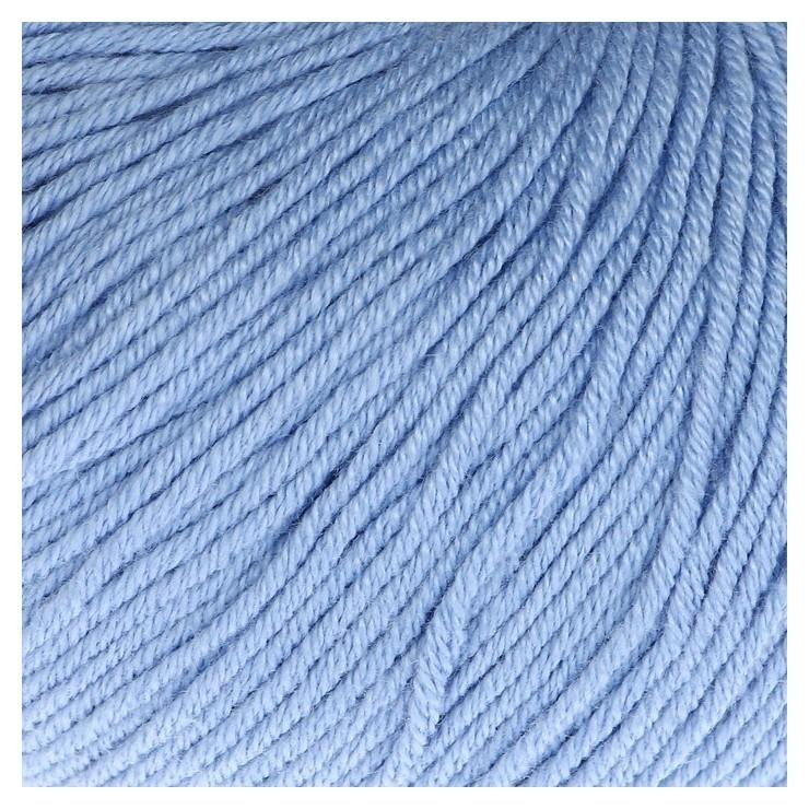 "Пряжа ""Baby Cotton"" 60% хлопок, 40% полиакрил 165м/50гр (3423 голубой)  Gazzal"