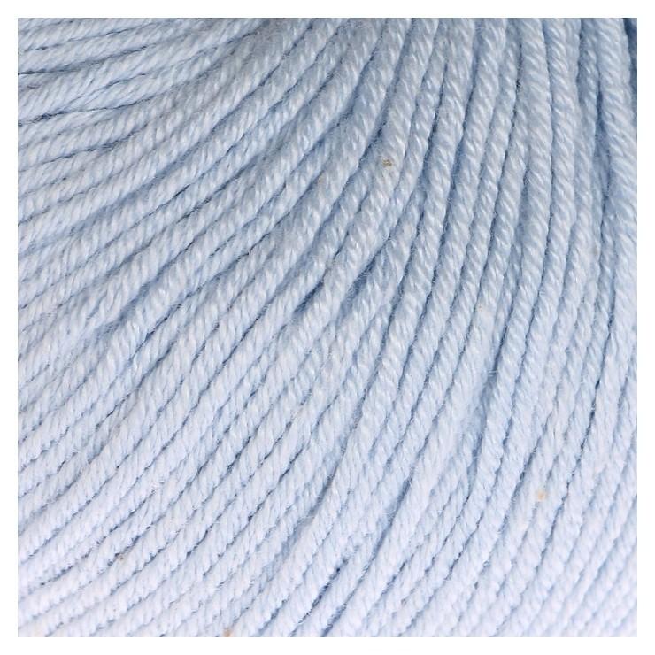 """Пряжа """"Baby Cotton"""" 60% хлопок, 40% акрил 165м/50гр (3429 голубой)  Gazzal"""