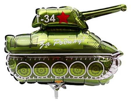 """Шар фольгированный 14"""" «Танк т-34»  Flexmetal"""