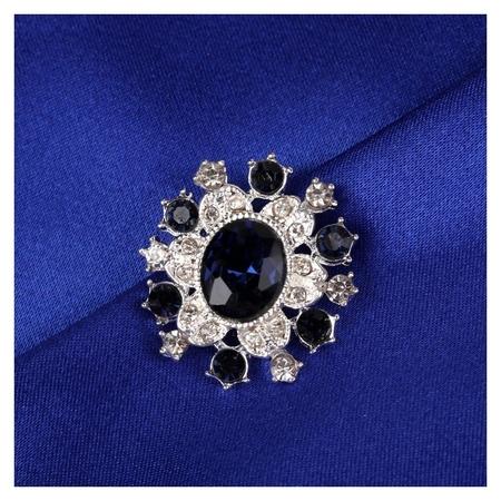 Пуговица декоративная, 22 × 20 мм, цвет синий  Арт узор