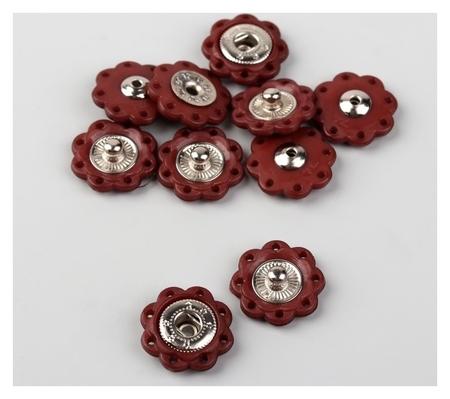 Кнопки пришивные декоративные, D = 16 мм, 5 шт, цвет коричневый  Арт узор