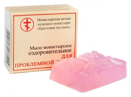 """Мыло монастырское оздоровительное """"Для проблемной кожи""""  Бизорюк"""
