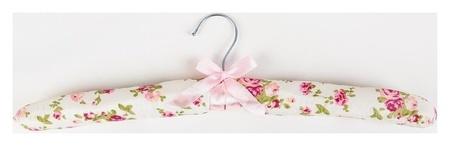 Вешалка-плечики для одежды мягкая «Розы нежные», размер 40-42  NNB