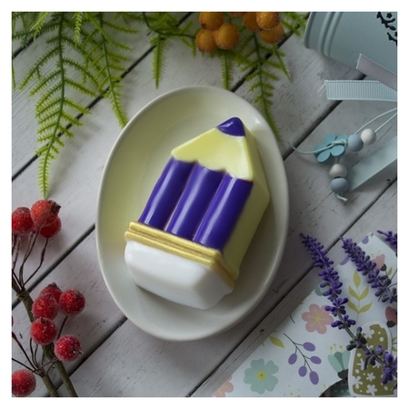 """Пластиковая форма для мыла """"Карандаш"""" 10,6х5,2х2.5 см  Выдумщики"""