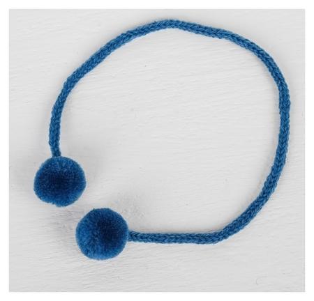 Декоративный элемент на верёвочке 2 шарика, D= 1,5 см, набор 6 шт., цвет морской волны  NNB