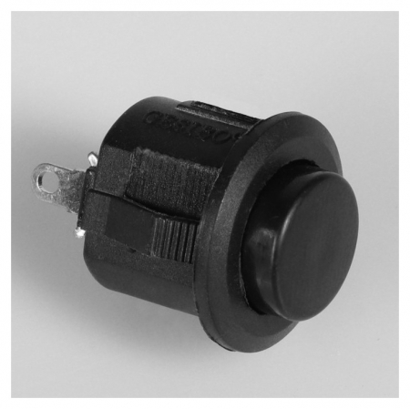 Выключатель кнопочный без подсветки, без фиксации, черный  NNB