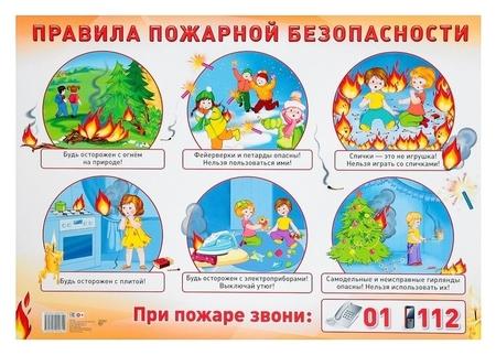 """Демонстрационный плакат """"Правила пожарной безопасности"""" А2  Издательство Сфера"""