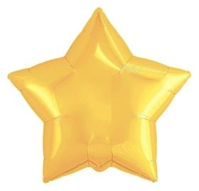 """Шар фольгированный 21"""", звезда, цвет светлое золото  Agura"""