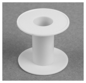 Бобина, 6,4 × 6 см, D = 2,4 см, цвет белый  NNB