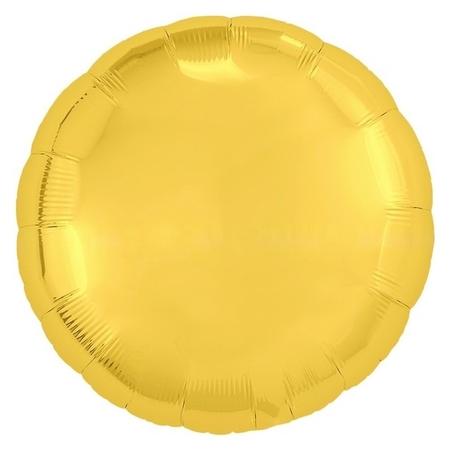 """Шар фольгированный 18"""", круг, цвет золотой  Agura"""