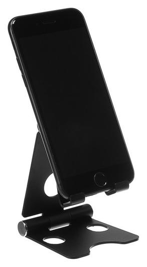 Подставка для телефона, регулятор наклона, разъем для провода, металл, черная NNB