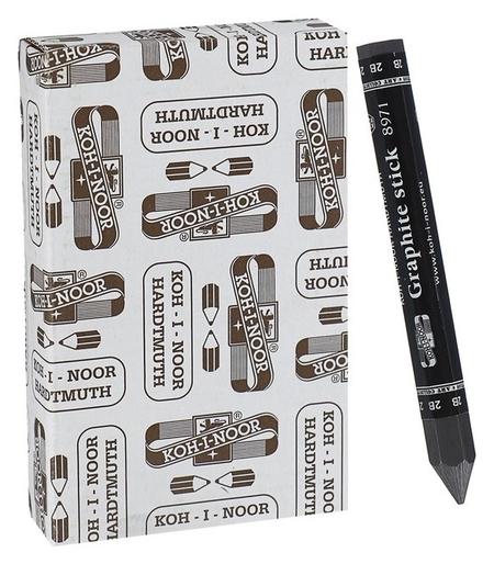 Карандаш цельнографитовый 10.5 мм Koh-i-noor 8971 2B, утолщённый, L=115 мм  Koh-i-noor