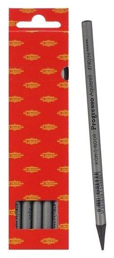 Карандаш акварельный Koh-i-noor Progresso 8780/36, в лаке, в картонной упаковке, черный, цена ЗА 1 ШТ  Koh-i-noor