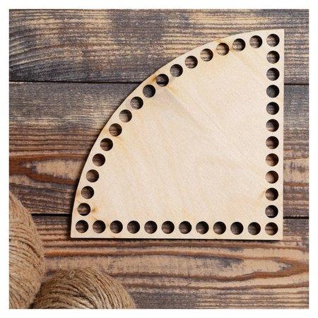 """Заготовка для вязания """"Четверть круга"""", донышко фанера 3 мм, 15 см, D=9мм  Queen fair"""