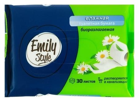 Влажная туалетная бумага Emily Style, растворяющаяся 30шт  Emily Style