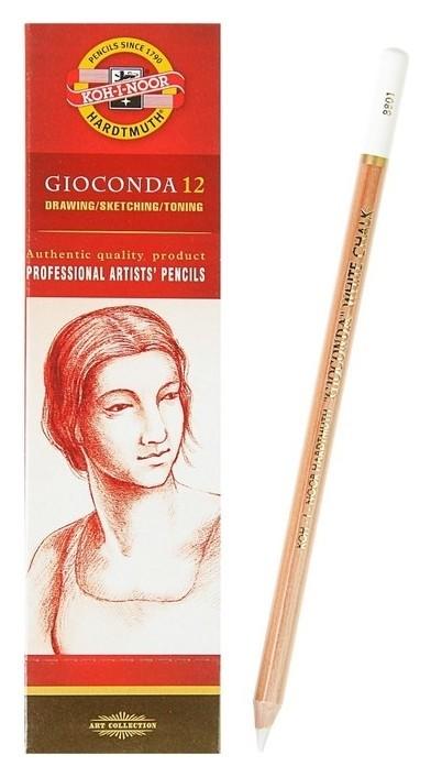 Меловой карандаш набор 12шт, K-i-n Gioconda 8801, белый (1295193)  Koh-i-noor
