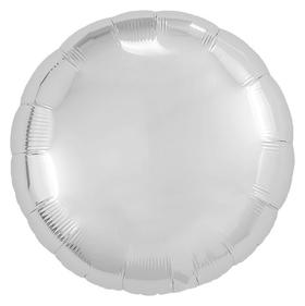 """Шар фольгированный 18"""", круг, цвет серебряный  Agura"""