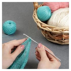 Крючок для вязания, с тефлоновым покрытием, D = 3,5 мм, 15 см