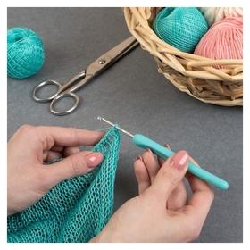Крючок для вязания, с пластиковой ручкой, D = 3 мм, 14 см