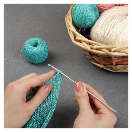 Крючок для вязания, с тефлоновым покрытием, D = 3 мм, 15 см  Арт узор