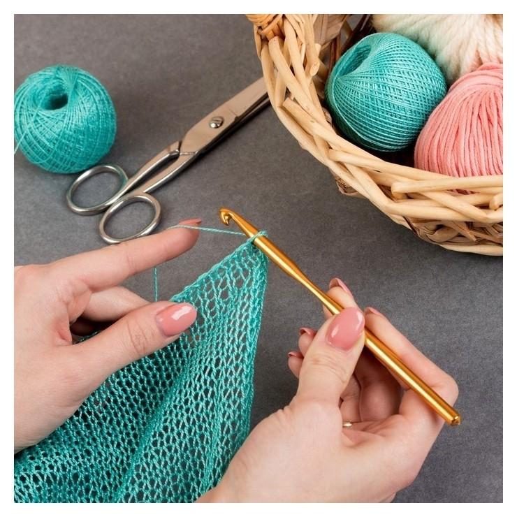 Крючок для вязания, D = 6 мм, 15 см  Арт узор