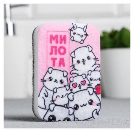 Губка для мытья посуды «Милота» 9х6 см  NNB