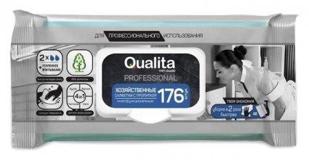 Влажные салфетки Qualita, хозяйственные с пропиткой, 176 шт.  Qualita