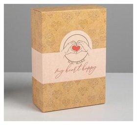 Коробка складная «С любовью», 16 × 23 × 7.5 см
