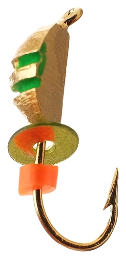 Мормышка клопик 2,5 с рисками (Гальваника)  NNB