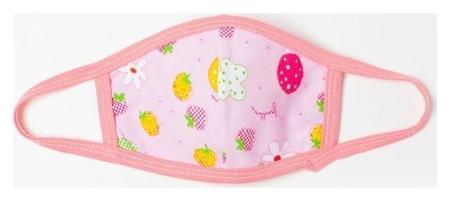 Повязка тканевая для девочки, цвет розовый (Рис) возраст 3-6 лет  NNB