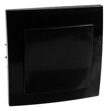 Выключатель Элект VS 16-131-ч, 1 клавиша, скрытый, черный Элект