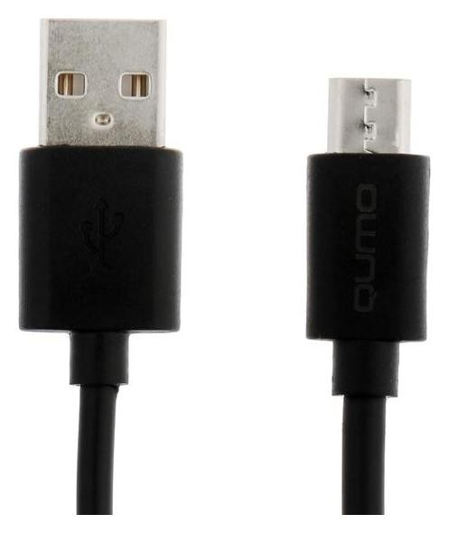 Кабель Qumo Light Series, Microusb - Usb, 1.4 А, 1 м, черный  Qumo