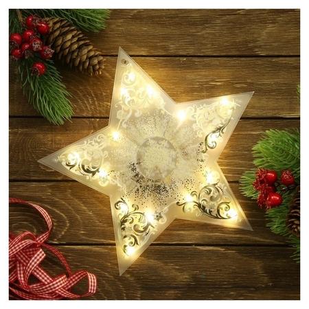 Декор звезда с гирляндой «Волшебства!», 25 × 23.8 см  Зимнее волшебство